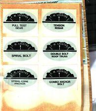 6 Different Nice F.M. Locotos Coal Mining Stickers # 726
