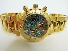 Invicta Subaqua Noma I Chronograph Watch Gold Abalone 25801