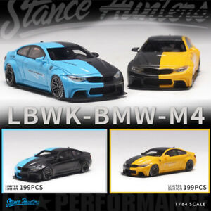 Stance Hunters 1:64 Model Car BMW M4 LBWK Resin Vehicle Mixed Color LTD 199 PCS