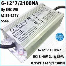 2PCS AC85-277V 100W By CE LED Driver 6-12x7 2100mA DC18-40V Constant Current 92%