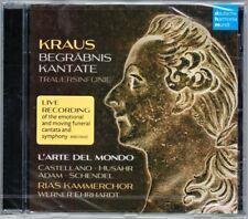 Joseph Martin KRAUS Bergäbniskantate Gustav III Trauersinfonie WERNER EHRHARDT