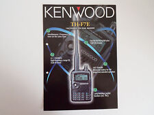 KENWOOD TH-F7E (GENUINE BROCHURE ONLY)............RADIO_TRADER_IRELAND.