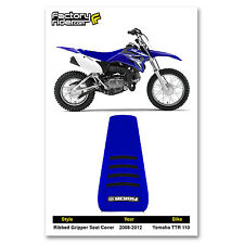 2008-2012 YAMAHA TTR 110 Blue/Black RIBBED SEAT COVER BY Enjoy MFG
