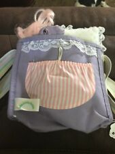 My Little Pony G1 Vintage Purple Canvas Bag/Purse/Pony Bed Hasbro Rare With Pony