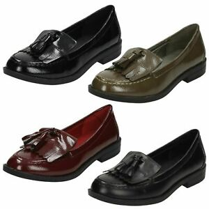 Spot On Ladies Loafer Style Shoes
