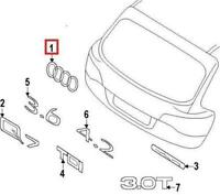 GENUINE OEM Audi Q7 Q5 A8 R8 Rear Trunk Rings Emblem Badge 4H0853742A2ZZ