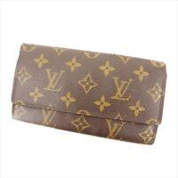 Louis Vuitton Wallet Purse Long Wallet Monogram Brown Woman Authentic Used Y2662