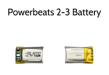 NEW Powerbeats2 Wireless Headphone 3.7v 90mAH Micro Lipo Battery - 22x12mm