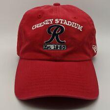 NEW ERA Tacoma Rainiers MiLB Cheney Stadium Spellout Logo Hat Strapback Cap Red