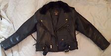 Ladies Size 14 Vanson Black Leather Motorcycle Jacket *Made in Boston Mass USA*
