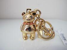 New Coach 3D Bear Metal Gold Keychain Keyring Keyfob 87166 with diamond eye