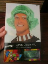 Smiffys Halloween Willy Wonka  Green Candy Creator oompa loompa Wig (NEW)