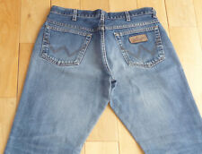 Mens Wrangler Texas Blue Stonewashed Straight Jeans W 34 L 32 - naturally faded