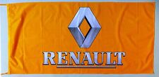 RENAULT FLAG 3D YELLOW - SIZE 150x75cm (5x2.5 ft) - BRAND NEW