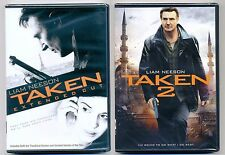 Taken & Taken 2 PG-13 action thriller movies, new DVDs Liam Neeson, Maggie Grace