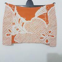 Yo Japan Women's Skirt Mini Micro Size 8 Orange Floral Quirky Unique 100% Cotton