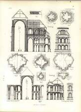 Gothic Soissons Church Section At Intersection Transepts Details Of Mouldings