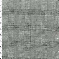 Black/White/Gray Wool Dobby Plaid Suiting, Fabric By The Yard