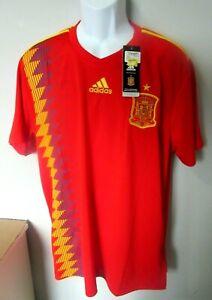 "NWT Mens Adidas Spain National Team ""2018 World Cup"" Football Soccer Jersey 2XL"