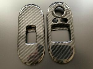 CARBON 2 DOOR WINDOW CONTROL SWITCH COVERS FOR MINI COOPER S HATCHBACK F56 2014+