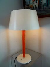 Vintage Gerald Thurston Lightolier Lamp Orange Industrial Mid Century Modern