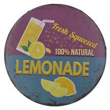 12'' FRESH SQUEEZED LEMONADE Plaque Poster Metal Sign Sale Concession Stand