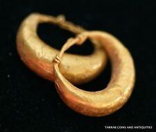 ANCIENT ROMAN-BYZANTINE PAIR OF HOOP GOLD EARRINGS! NICE & ELEGANT PIECE OF ART!
