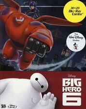 Disney Pixar's Big Hero 6 3d 2d Blu-ray Zavvi OOP Steelbook New&
