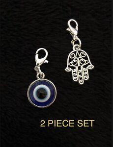 Hamsa Hand Clip Turkish Evil Eye Charm Hand of Fatima Spiritual Yoga Buddha Luck