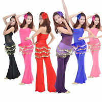 Attractive 3 Rows Coins Belly Dance Chiffon Hip Skirt Scarf Wrap Belt New Hot