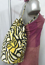 SAC A DOS BALUCHON AFRICAIN HIPPIE ETHNIQUE toile tigre jaune noir INDE NEUF