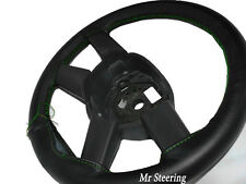 FITS MERCEDES ACTROS NEW ITALIAN LEATHER STEERING WHEEL COVER GREEN STITCH 2012+