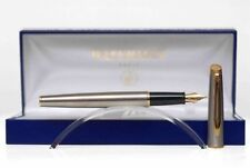 WATERMAN HEMISPHERE STAINLESS STEEL & GOLD FOUNTAIN PEN MED NEW IN BOX OLD STYLE