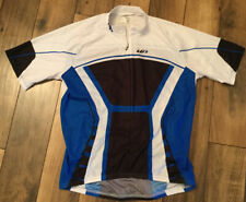 Men's Louis Garneau Cycling Jersey Blue Black And White Size Medium