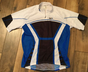 Men's Louis Garneau Cycling Jersey Blue Black And White Size Medium