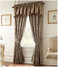Waterford Linens Arielle 4 Pc Top Pole Panels Curtains. ( Valance Not Included )