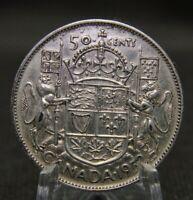 50 cents CANADA 1952 - George VI - SILVER .800