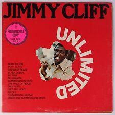 JIMMY CLIFF: Unlimited DJ PROMO vinyl lp WARNER BROTHERS reggae AWESOME