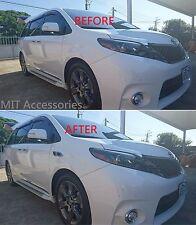 MIT Toyota SIENNA 2011-2017 Side body fender molding vent trim chrome garnish