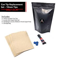 Snooker Cue Tip Repair Kit - 10mm Tips - Snooker - Pool - Billiards