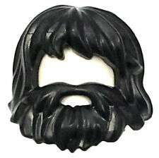 LEGO NEW BLACK MINIFIGURE BEARD FACIAL HAIR PIECE NEW RARE