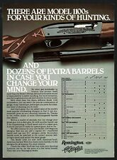 1981 REMINGTON 1100 Shotgun AD w/barrel chart for all gauges