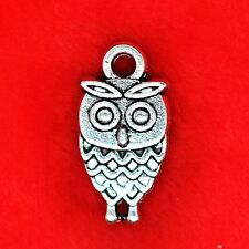 10 x Wise Owl Harry Potter Bird Tibetan Silver Charms Pendants Beads