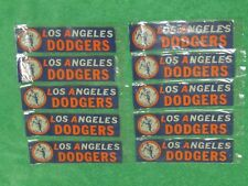 LOT OF 10 RARE 1950s LOS ANGELES DODGERS  BUMPER STICKERS w/VINTAGE  LOGO