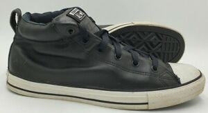 Converse Chuck Taylor All Star Mid Leather Trainers 143727C Black UK11/US11/EU45