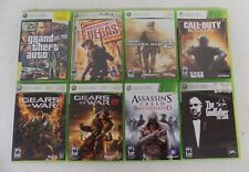 (8) XBOX 360 Games GTA IV Gears 1&2 Call of Duty Modern 2 & Black Ops Assassin's
