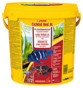 3.6KG Sera Cichlid Red XL Color Pellet Fish Food 10L Ornamental Aquarium Variety
