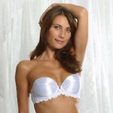 Splendour Blanc Satin Push Up Sans Bretelles Multi Soutien-gorge 38D RRP £ 23