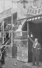 FETE FORAINE MANEGE CARTE POSTALE ATTRACTION FILLETTE A 2 TETES GIEN ?? 1902 ??