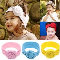 Cute Flower Bow Knot Girl Baby Headband Elastic Turban Toddler Hair Band For Kid
